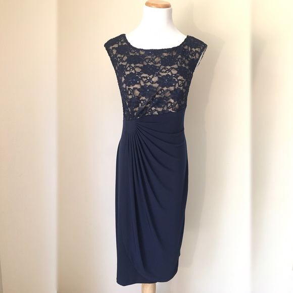 Dress Barn Collection Navy Cocktail Dress 10